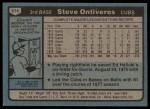 1980 Topps #514  Steve Ontiveros  Back Thumbnail