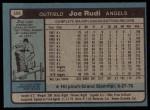 1980 Topps #556  Joe Rudi  Back Thumbnail