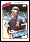 1980 Topps #20  Dan Ford  Front Thumbnail