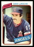 1980 Topps #263  Dave LaRoche    Front Thumbnail