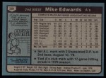 1980 Topps #301  Mike Edwards  Back Thumbnail