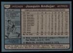 1980 Topps #617  Joaquin Andujar  Back Thumbnail
