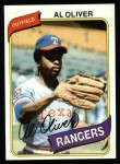 1980 Topps #260  Al Oliver  Front Thumbnail