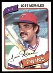 1980 Topps #218  Jose Morales  Front Thumbnail