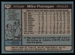 1980 Topps #640  Mike Flanagan  Back Thumbnail