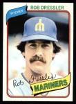 1980 Topps #366  Rob Dressler  Front Thumbnail