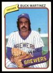 1980 Topps #477  Buck Martinez  Front Thumbnail