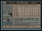 1980 Topps #253  John Montague  Back Thumbnail