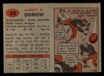 1957 Topps #24  Al Dorow  Back Thumbnail