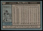 1980 Topps #648  Roy White  Back Thumbnail