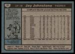 1980 Topps #31  Jay Johnstone  Back Thumbnail