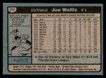 1980 Topps #562  Joe Wallis  Back Thumbnail