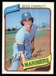 1980 Topps #443  Mike Parrott  Front Thumbnail