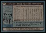 1980 Topps #443  Mike Parrott  Back Thumbnail
