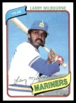 1980 Topps #422  Larry Milbourne  Front Thumbnail