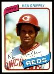 1980 Topps #550  Ken Griffey  Front Thumbnail