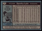 1980 Topps #115  Sparky Lyle  Back Thumbnail