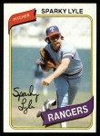 1980 Topps #115  Sparky Lyle  Front Thumbnail