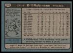 1980 Topps #264  Bill Robinson  Back Thumbnail
