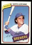 1980 Topps #215  Sixto Lezcano  Front Thumbnail