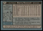 1980 Topps #632  Barry Bonnell  Back Thumbnail