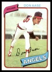 1980 Topps #239  Don Aase  Front Thumbnail