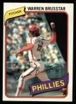 1980 Topps #52  Warren Brusstar  Front Thumbnail