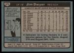 1980 Topps #576  Jim Dwyer  Back Thumbnail