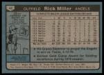1980 Topps #48  Rick Miller  Back Thumbnail