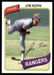 1980 Topps #369  Jim Kern  Front Thumbnail
