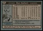 1980 Topps #435  Don Gullett  Back Thumbnail