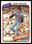 1980 Topps #61  Gary Serum  Front Thumbnail