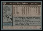 1980 Topps #163  Steve Swisher  Back Thumbnail