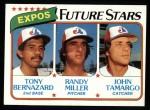 1980 Topps #680   -  Tony Bernazard / Randy Miller / John Tamargo  Expos Rookies Front Thumbnail
