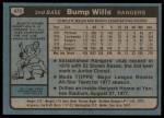 1980 Topps #473  Bump Wills  Back Thumbnail