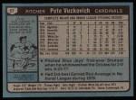 1980 Topps #57  Pete Vuckovich  Back Thumbnail