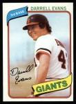 1980 Topps #145  Darrell Evans  Front Thumbnail