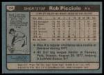 1980 Topps #158  Rob Picciolo    Back Thumbnail
