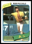 1980 Topps #158  Rob Picciolo    Front Thumbnail