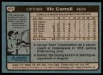 1980 Topps #419  Vic Correll  Back Thumbnail