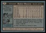 1980 Topps #19  Balor Moore  Back Thumbnail