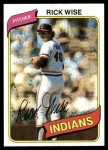 1980 Topps #725  Rick Wise  Front Thumbnail