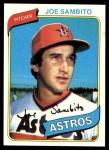 1980 Topps #571  Joe Sambito  Front Thumbnail