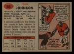 1957 Topps #16  John Johnson  Back Thumbnail