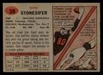 1957 Topps #38  Don Stonesifer  Back Thumbnail