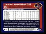 2003 Topps #49  Jason Simontacchi  Back Thumbnail