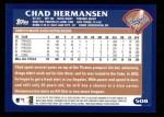 2003 Topps #508  Chad Hermansen  Back Thumbnail