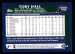 2003 Topps #534  Toby Hall  Back Thumbnail