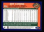 2003 Topps #44  Jeff Conine  Back Thumbnail