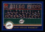 2003 Topps #653   San Diego Padres Team Front Thumbnail